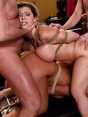 Wife lured into swinging with kinky couple, double vaginal penetration.