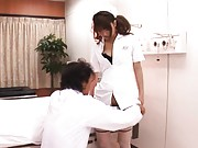 Yua Yoshikawa Hot nurse shows off perfect ass and cameltoe pussy