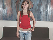 Roxie is your petite girl that plays with her clit fully naked by the couch