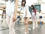 Natsumi Horiguchi practices dancing and gets horny in public
