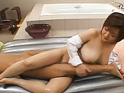 Maria Asakura is a hot milf who licks all over the stud
