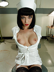 Sexy nurse overpowered, bound and helplessly fucked by patient