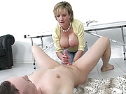 Facesitting busty mature dominatrix