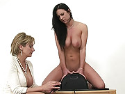 Mature ashleigh riding the sybian