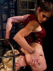 All natural local cutie gets brutal punished and and fucked by lesbian dominatrix
