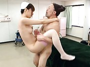 Tsubasa Amami fucks a man to give him good nurse treatment