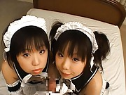 Airi gets fingered while she is on top of her friend
