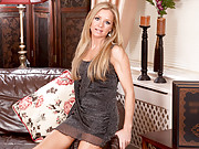 Classic blonde milf beauty Louise Dakotah masturbates at Anilos