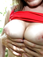Amazing super hot fucking big tits big ass cowgirl fucked hard adjacent the fence in these ranch fucking pics