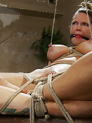 """THE RANSOM"" A Hogtied feature movie. A fantasy BDSM abduction movie starring Rain DeGrey.  The wealthy are always targets, especially the sexy rich."