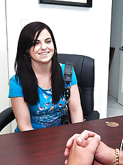 Hot ass mini skirt teen interviewed for porn audition gets nailed against office couch hot cumfaced pics