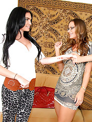 3 super hot leopard print milfs fuck and suck their hot asses big titty fucking hot 3some