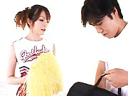 Miku Ohashi is a sexy cheerleader who will get fucked hard