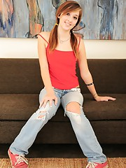 Roxie is your naughty and innocent teen as she gets naked