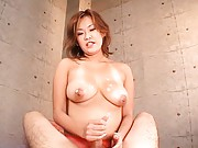 Rui Horie´s tits are used to fuck a man´s cock and make him cum