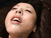Junko Hayama lays on her back and rubs herself as she gets fucked