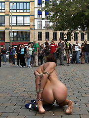 Berlin Subway, bridge, loading dock, Olympic Stadium - Princess Donna Dolore fucks her Euro sluts in public view - exposed, naked, hardcore fucking!