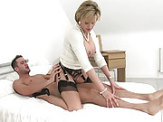 Hard riding cfnm british mature