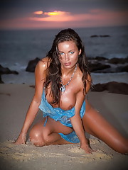 Kyla Cole naked at sunset, perfect