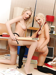 Danielle Maye and her cute friend get it on
