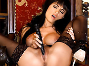 Roxanne Milana fills her sexy snatch with a nice toy