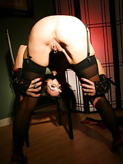 Jessica Jaymes amazingly hot in her black seamed stockings