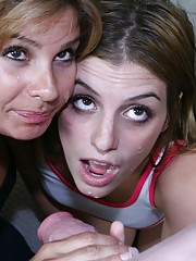 Mom and Teen Blowjob