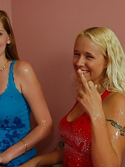 Julie J and Layla Make Big Cock Cum