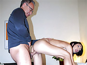 British guy shagging a sexy cutie doggystyle