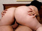 Brunette BBW loves to fuck on top