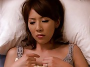 Mature Misa Yuki fingers herself so her tight pussy gets wet