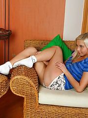 A willing blonde sweetie screwed doggystyle