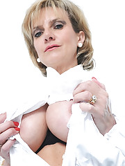 Classy busty nylons mature spreads