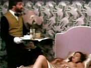 Three butlers fucking a sexy girl in a hotel