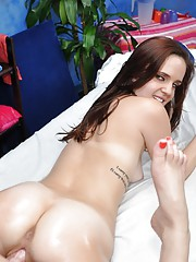 Sexy 18 year old cutie gets fucked hard from her massage therapist!