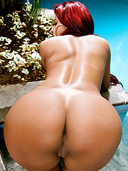 Hot big tits brazilian red head nailed deep in the forest hot pics
