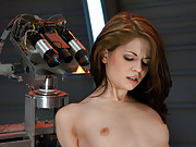 Beautiful, flexible, dancer fucked by robots in pile driver, spread froggy and  cowgirl over the Sybian. She cums in waves of long climaxes.