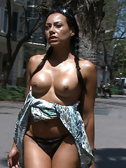 Lara Tanelli gets tied up and paraded naked through the streets of Europe