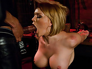 Exposed escort wife punished and ass fucked in bondage by husband.