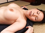 Juri Yamaguchi´s mature twat is fucked and she moans in pleasure