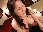 Juri Yamaguchi´s mature cunt is fucked from behind