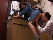 Mihiro Naughty Asian doll gets her ass licked then sucks cock