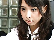 Meguru Kosaka Pretty babe acts like a real doll and is posed