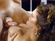Gorgeous retro chick nailed hard by a dude