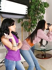 2 hot milfs gets their pussy fucked hard by a huge cock after the model strips naked and bangs the photographers in these hot reality fucking pics and big video