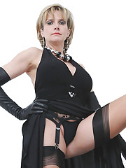 Opera gloves and nylons milf