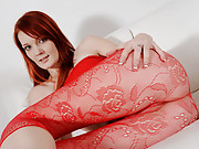Her smooth pale skin and dark red hair strike a perfect contrast to the tan meat of her male costar as he fucks her face and helps her make the transition from pretty pussy model to hardcore blowjob w...