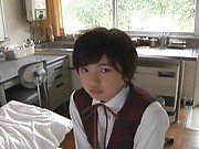 Sakura Aida Schoolgirl is in the nurses office talking to nurse