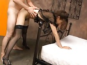 Reika Sanada Sexy babe sucks a cock and gets a pussy pounding