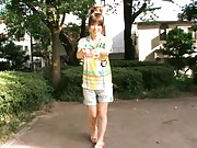 Miho Imamura Pretty teen is posing outdoors for hot photos